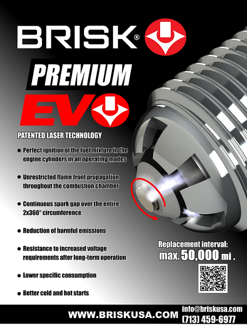 Brisk Premium Evo High Performance Racing Spark Plugs