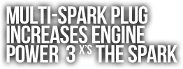 Multi-Spark Plug  Increases Engine  Power  3 X's The Spark.png